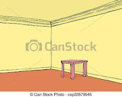 empty room with pink table empty room with yellow walls and