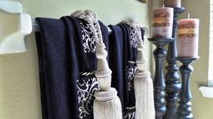 bathroom towel hanging ideas amazing bathroom 25 best decorative towels ideas on with