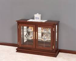 small curio cabinet with glass doors amish small console curio cabinet display case small curio cabinet