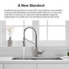 professional kitchen faucet kraus kpf 1610ss bolden single handle 18 inch commercial kitchen
