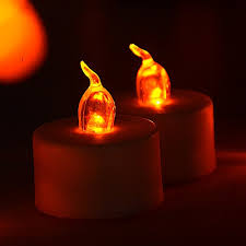 led tea lights battery life saim warm light fake candles flickering bulb battery operated