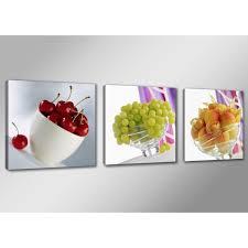 tableau de cuisine moderne tableau moderne imprimé 150x50 cm fruits achat vente tableau