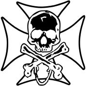 biker cross skull and crossbones by pinkcake spreadshirt