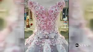 life size wedding dress cake wows at cake show youtube