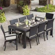 shop rst brands deco 9 piece espresso composite material patio