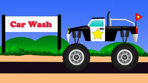 bigfoot presents meteor and the mighty monster trucks monster truck car wash baby video videos for kids childrens