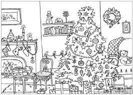 christmas coloring pages room picture coloring pages
