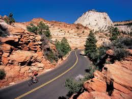 biking in zion national park bryce zion bike tour