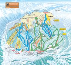 Colorado Ski Map by Copper Mountain Piste Map Trail Map