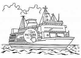 cruise ship coloring kids transportation coloring