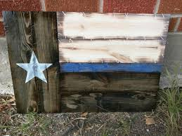 small thin blue red line texas flag