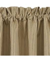 Ticking Stripe Curtains Deal On Black And Ticking Stripe Curtain Tiers Primitive