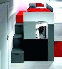 lit mezzanine avec bureau et rangement lit superpos avec rangement lit superpose avec tiroir lit