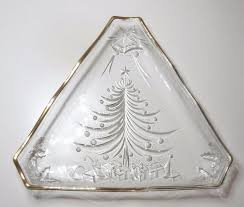 vintage mikasa cut glass tree serving platter