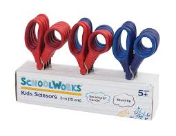 amazon com schoolworks 5 inch blunt kids scissors classpack of
