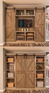 barn door tv wall cabinet 12 barn door projects that will make you want to remodel sliding