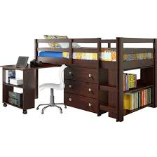 wooden loft bunk bed with desk solid wood twin loft bunk bed desk ladder 3 drawer storage chest
