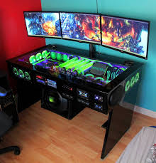 ultimate gaming desk setup computer gamer desk fabulous pc gaming desk setup best ideas about