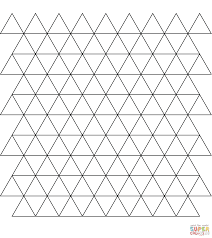tessellation with triangle coloring page supercoloring com