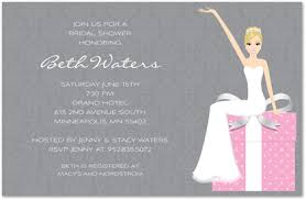 bridal shower invitations wording pink gift bridal invitations