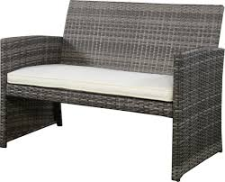 Wicker Outdoor Patio Furniture - 4pc gray rattan wicker outdoor patio furniture set