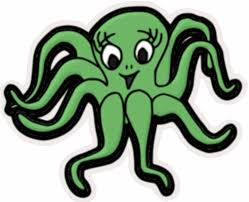green octopus clipart clipartxtras