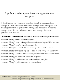 Sample Objectives In Resume For Call Center Agent by Top8callcenteroperationsmanagerresumesamples 150515013436 Lva1 App6892 Thumbnail 4 Jpg Cb U003d1431653724