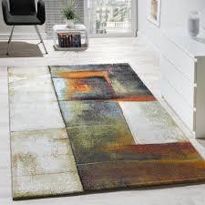 designer teppich designer teppich kurzflor wohnzimmer meliert multicolour bunt