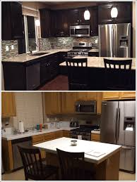White Kitchen Cabinets White Appliances by Kitchen Gray Kitchen Cabinets With Black Counter Wood Cabinets
