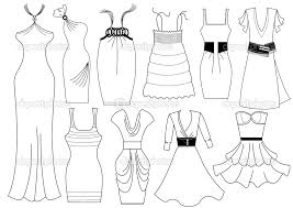 fashion dress girls coloring sheets pages download