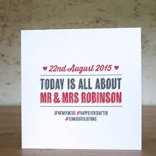 special day personalised wedding card by the design conspiracy