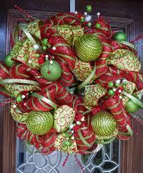 wide mesh ribbon whimsical christmas wreath 24 wreaths christmas deco and holidays