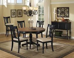 Black Pedestal Table Hillsdale Embassy Round Pedestal Table With Wood Top 4808 812 13