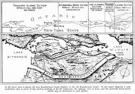 St Lawrence Seaway Map Beauharnois Power And Seaway Canal