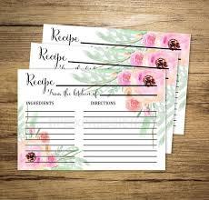 printable recipe cards 4 x 6 printable recipe cards watercolor flowers recipe cards 4x6 recipe