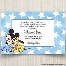 mickey mouse baby shower invitations disney baby mickey pluto baby shower invitations baby cachet