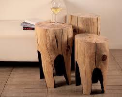 Log Side Table Log Furniture Tree Stump Table Side Table Wood Furniture