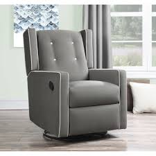 Reclining Rocking Chair For Nursery Furniture Swivel Glider Recliner Nursery Rocking Chair Leather