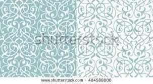 indian ornamentseamless white black tracerydamask pattern stock
