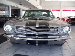 Black Mustang Grey Stripes 1965 Ford Mustang Gt 350 Fastback