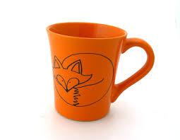 custom fox mug orange can be personalized by lennymud on etsy