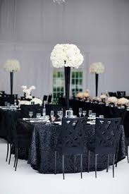 Black And Silver Centerpieces by Black And White Modern Wedding With Unique Details In Cincinnati