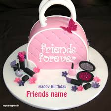 write name birthday wishes cake for best friend category cards