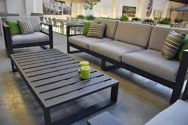 canapé jardin salon de jardin 5 places en alu anthracite azuro