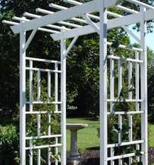 white arch garden party arbor trellis wedding decor patio outdoor