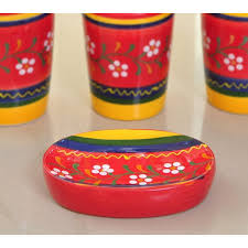piece bathroom accessories set ceramic multicolor