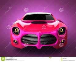 voiture de luxe de sport rose