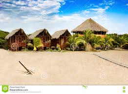 Exotic Beach Houses Exotic Beach House At The Beach In Nicaragua Ca Stock Photo