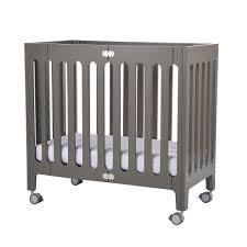 White Mini Crib by Bloom Alma Mini Crib In Frost Grey U2013 Natural Baby Shower