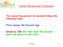 percent to decimal our lesson decimal and percent ppt